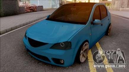 Dacia Logan Tuning Blue para GTA San Andreas