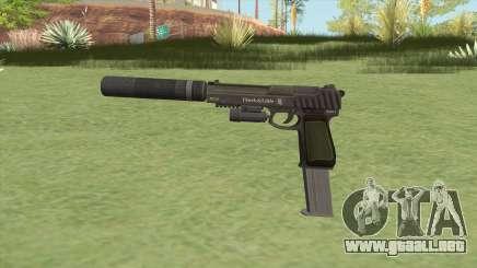 Pistol .50 GTA V (Green) Full Attachments para GTA San Andreas