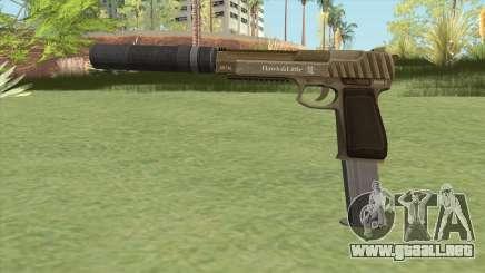 Pistol .50 GTA V (Army) Suppressor V2 para GTA San Andreas