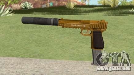 Pistol .50 GTA V (Gold) Suppressor V2 para GTA San Andreas