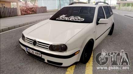 Volkswagen Golf 4 White para GTA San Andreas