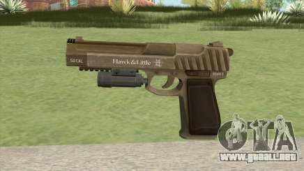 Pistol .50 GTA V (Army) Flashlight V1 para GTA San Andreas