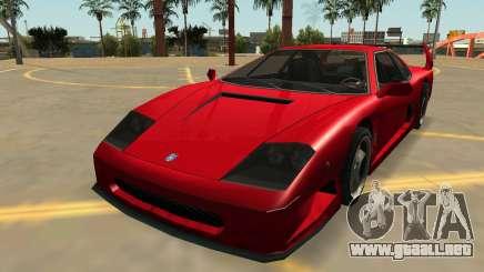 Grotti Turismo con Insignias y Extras para GTA San Andreas
