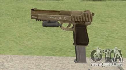 Pistol .50 GTA V (Army) Flashlight V2 para GTA San Andreas