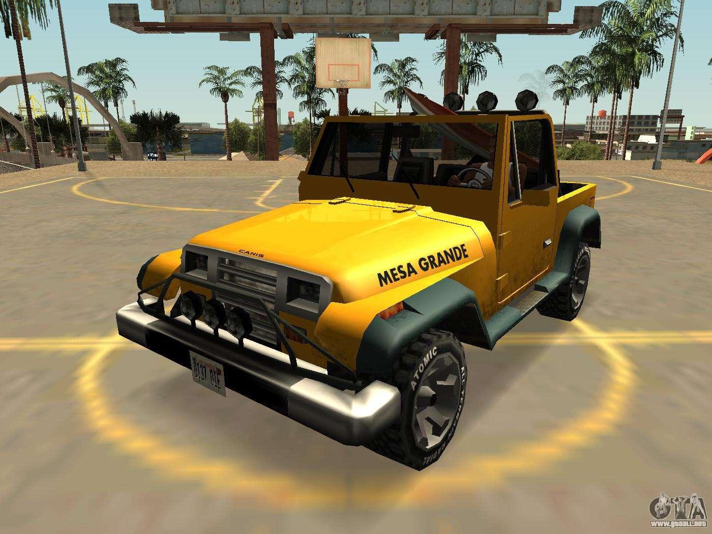 Canis Mesa Grande Con Insignias Y Extras para GTA San Andreas