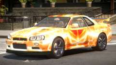 Nissan Skyline R34 GT-R V1.1 PJ5 para GTA 4