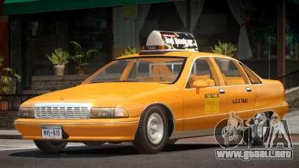 Chevrolet Caprice Taxi V1.0 para GTA 4