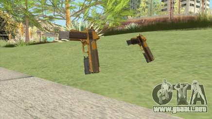 Heavy Pistol GTA V (Gold) Flashlight V2 para GTA San Andreas