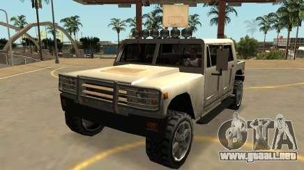 Mamut Patriota Civil con insignias y extras para GTA San Andreas