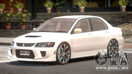 Mitsubishi Lancer Evolution VIII Tuned para GTA 4
