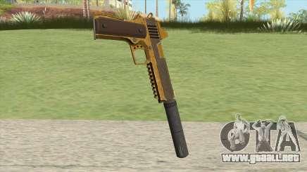 Heavy Pistol GTA V (Gold) Suppressor V1 para GTA San Andreas