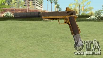 Heavy Pistol GTA V (Gold) Suppressor V2 para GTA San Andreas