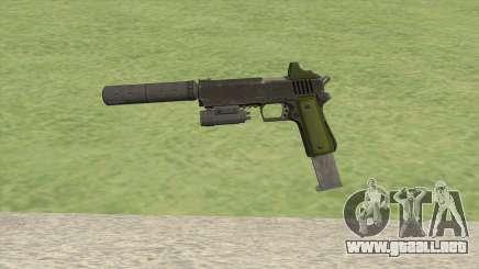 Heavy Pistol GTA V (Green) Full Attachments para GTA San Andreas