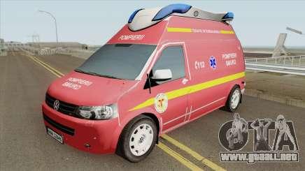 Volkswagen Transporter (SMURD) para GTA San Andreas