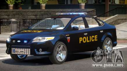 Ford Mondeo ST Police para GTA 4