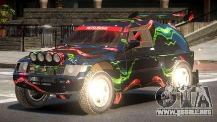 Mitsubishi Pajero Rally Sport PJ4 para GTA 4