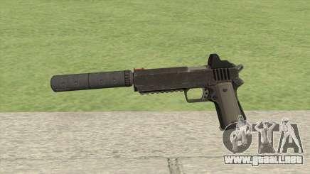 Heavy Pistol GTA V (NG Black) Suppressor V1 para GTA San Andreas