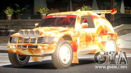 Mitsubishi Pajero Rally Sport PJ5 para GTA 4