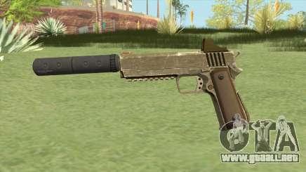 Heavy Pistol GTA V (Army) Suppressor V1 para GTA San Andreas