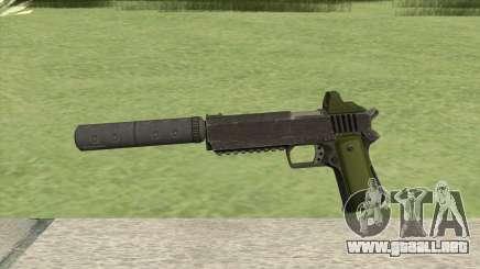 Heavy Pistol GTA V (Green) Suppressor V1 para GTA San Andreas