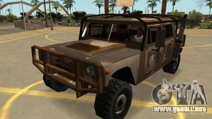Mamut Patriota Militar Con Insignias Y Extras para GTA San Andreas