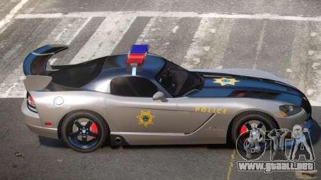 Dodge Viper RT Police para GTA 4