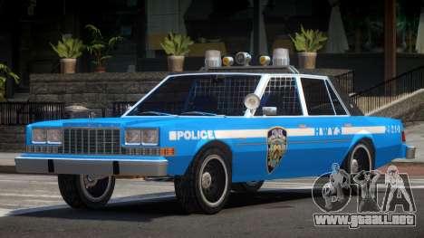 Dodge Diplomat Police V1.1 para GTA 4