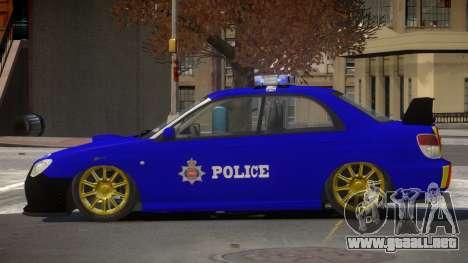 Subaru Impreza RS Police para GTA 4