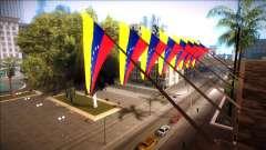 Bandera de venezuela en el ayuntamiento y en la estación de policía para GTA San Andreas