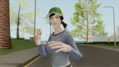 PUBG Female Skin (Varsity Jacket Outfit) para GTA San Andreas