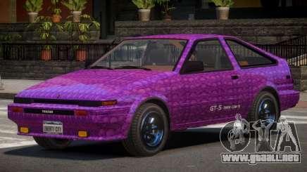 Toyota AE86 GT-S Hatchback PJ2 para GTA 4