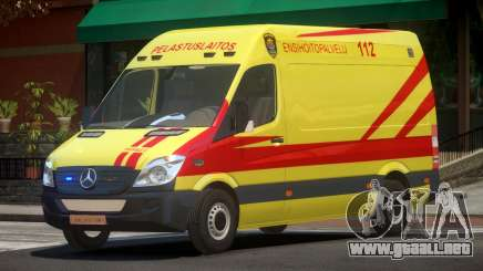 Mercedes Benz Sprinter Ambulance para GTA 4