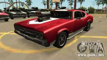 Declasse Sabre GT-Turbo (VehFuncs-Insignias-Extras) para GTA San Andreas