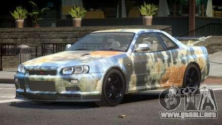 Nissan Skyline R34 E-Style PJ4 para GTA 4
