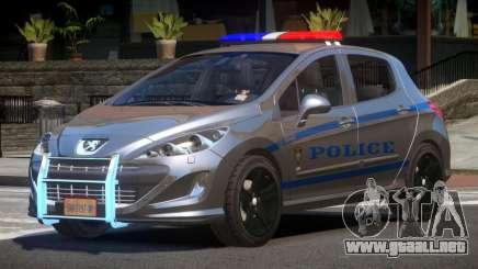Peugeot 308 Police para GTA 4