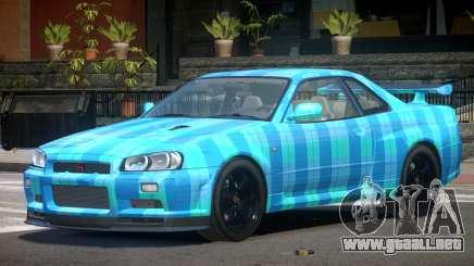 Nissan Skyline R34 E-Style PJ5 para GTA 4