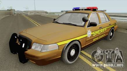 Ford Crown Victoria 2011 (Bone County Sheriff) para GTA San Andreas
