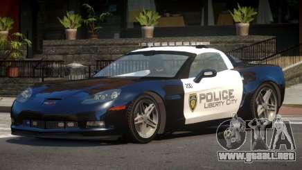 Chevrolet Corvette LS Police para GTA 4