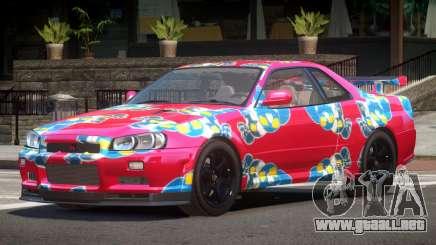 Nissan Skyline R34 E-Style PJ7 para GTA 4