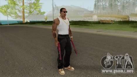 Sawed-Off Shotgun GTA V (Pink) para GTA San Andreas