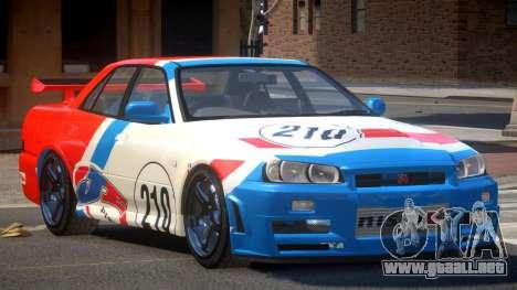 Nissan Skyline R34 D-Style PJ2 para GTA 4