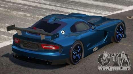 Dodge Viper SRT L-Tuning para GTA 4