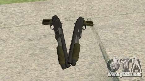 Sawed-Off Shotgun GTA V (Green) para GTA San Andreas