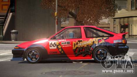 Toyota Corolla GT S-Tuning PJ3 para GTA 4