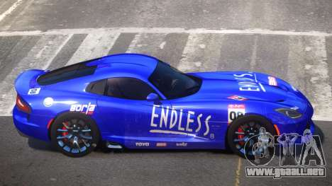 Dodge Viper SRT D-Tuned PJ6 para GTA 4