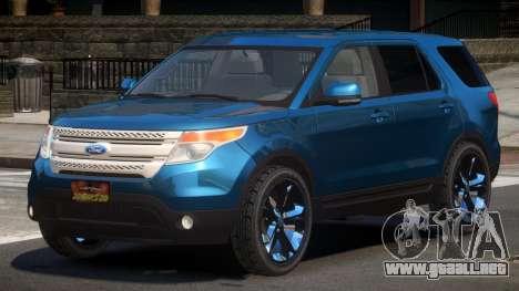 Ford Explorer RGT para GTA 4
