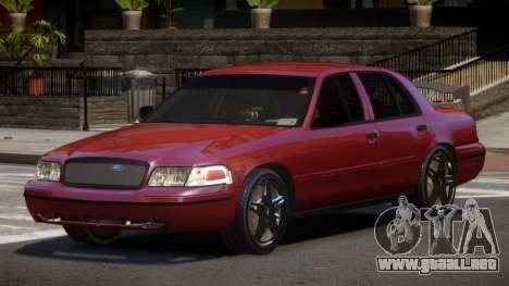 Ford Crown Victoria R-Tuned para GTA 4