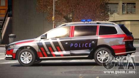 Volkswagen Passat UL Police para GTA 4