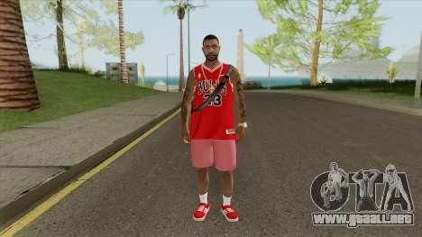 Random Male V2 (Chicago Bulls) para GTA San Andreas