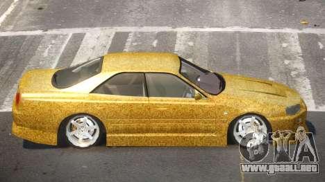 Nissan Skyline R34 SRS PJ6 para GTA 4